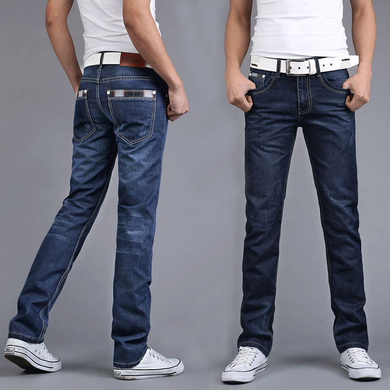 2018 Spring And Autumn New Style Korean-style Slim Fit MEN'S Jeans Men's Straight-Cut Teenager Long Pants Fashion 2000-