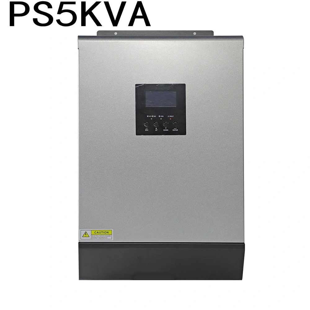 5000VA PS5KVA Hybrid Solar Inverter 48VDC To 230VAC With 48V50A Solar Charger Controller And 60A AC Charger Parallel Function
