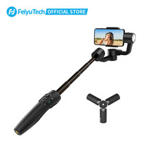 Feiyutech vimble oficial 2s cardan handheld tripé smartphone estabilizador selfie vara com 180mm pólo para iphone samsung xiaomi