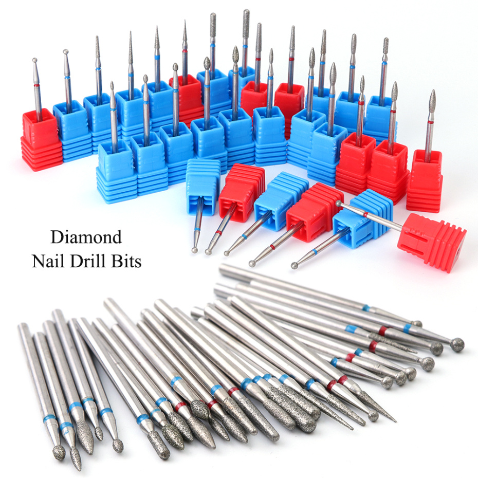 1pcs Nail Drill Bits For Electric Manicure Machine Corundum Cutter Diamond Burr Pedicure Accessories Tools Gel Remover LA01-29-2