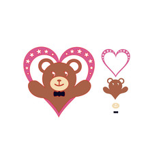Naifumodo Heart Bear Made Metal Cutting Dies Star Love for Card Making Scrapbooking Embossing Cuts Stencil Craft