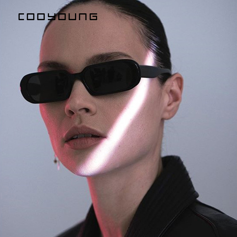 COOYOUNG  Fashion Female Trendy Small Frame Sunglasses Women Luxury Brand Candy Color Lens Sun Glasses Ladies Shades