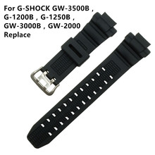 New For Caswatch GSHOCK GW-3500B / GW-3000B GW-2000 G-1200B G-1250BResin Tape Watchabnd Watch Band Strap +Tool