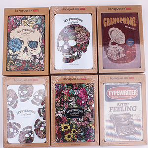 1PC 10x15cm Vintage Series Notepad Devil 256 Pages Tinplate Cover Notebooks Office School Craft Diary Kids Supplies  (ss-1743)