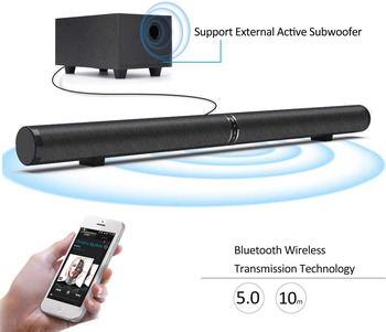 YOUXIU 65W TV Sound Bars Home Theater Soundbar Separable Bluetooth 5.0 Speakers Echo Wall Bar With Subwoofer Boost Bass 2