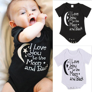 ARLONEET Babys Jumpsuits Newborn Toddler Baby Boys Girl Romper Jumpsuit Outfit short-sleeved Letter Printing Jumpsuits 6M-4Y