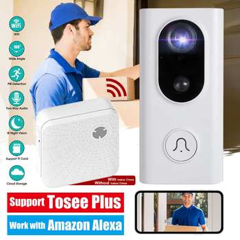 HD Video 2.4G WiFi Doorbell Home Security Wireless Anti-Theft Door Bell Camera Support Two-Way Talk Night Vision PIR Detection
