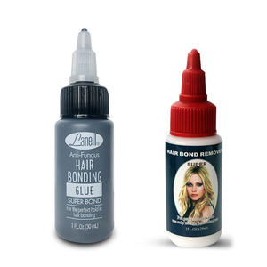 Professional 1OZ 30ml 2Bottles Hair Bonding Glue or Hair Bond Remover for Hair Weft Weaving Hair Extensions Liquid Adhesive