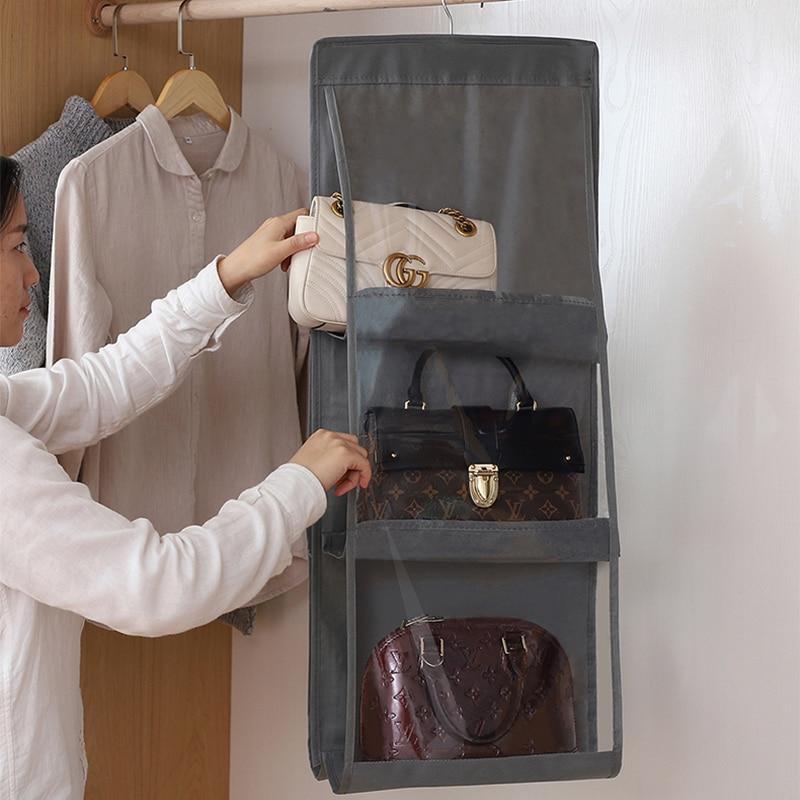TWDW, настенная сумка для хранения, подвесная сумка, настенная, тканевая, Пылезащитная, для домашнего гардероба, органайзер, сумка для