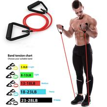 Эспандер для йоги эластичная фитнес лента с ручками 5 уровней