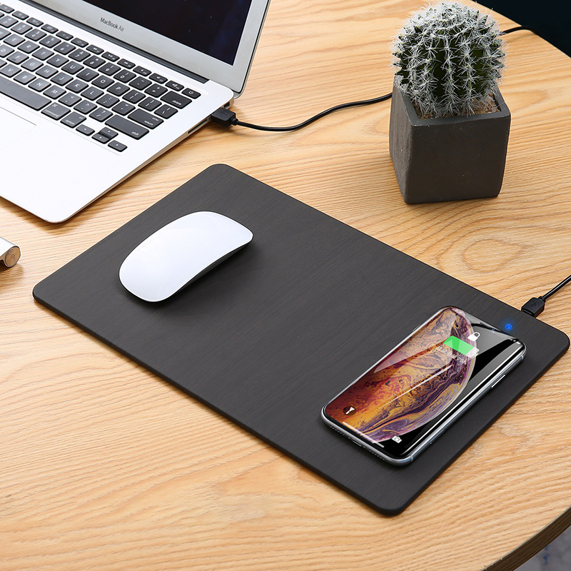 2 In1 Fast Wireless Charging With Mouse Pad Leather Easy To Clean Multifunctional Mouse Mat For IPhone Plus For Samsung S8 Plus Wireless Chargers     - title=