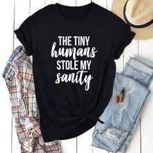 Tiny Menschen Stola Mein Verstand T-shirt Mom Shirt Tumblr Casual Hipster T Sommer Kurzarm Top Outfit Mama Slogan Trendy t-shirt(China)