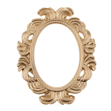 Vintage estilo oro marco de fotos recortes fiesta Photo Booth Props novedad barroco Oval resina mesa de pared marco de la puerta de la boda