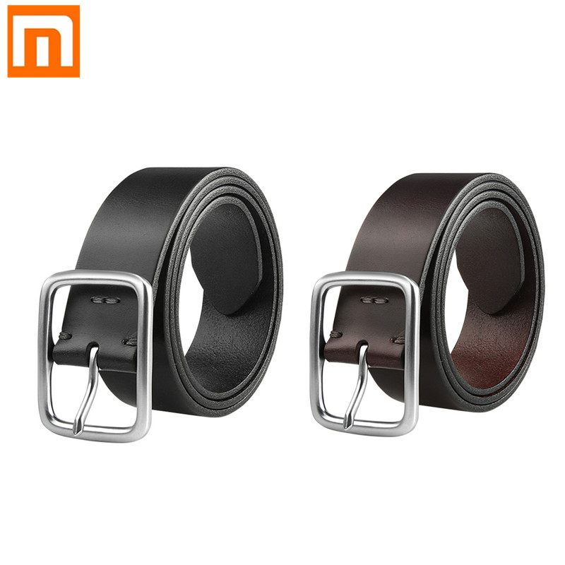 Xiaomi Qimian 100% Leisure Cow Leather Belt Fashion Five Hole 38mm Width For Man Alluminum Buckle Best Gift Best Quality