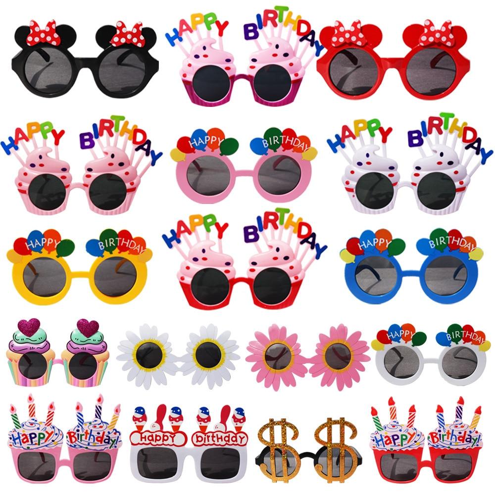 Óculos de aniversário infantil, adereços para festa de aniversário infantil, acessórios para festa, 1 peça