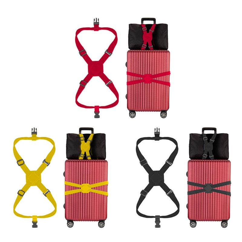 Travelling Elastic Luggage Belt Baggage Adjustable Straps Tie Down Belt New F42A