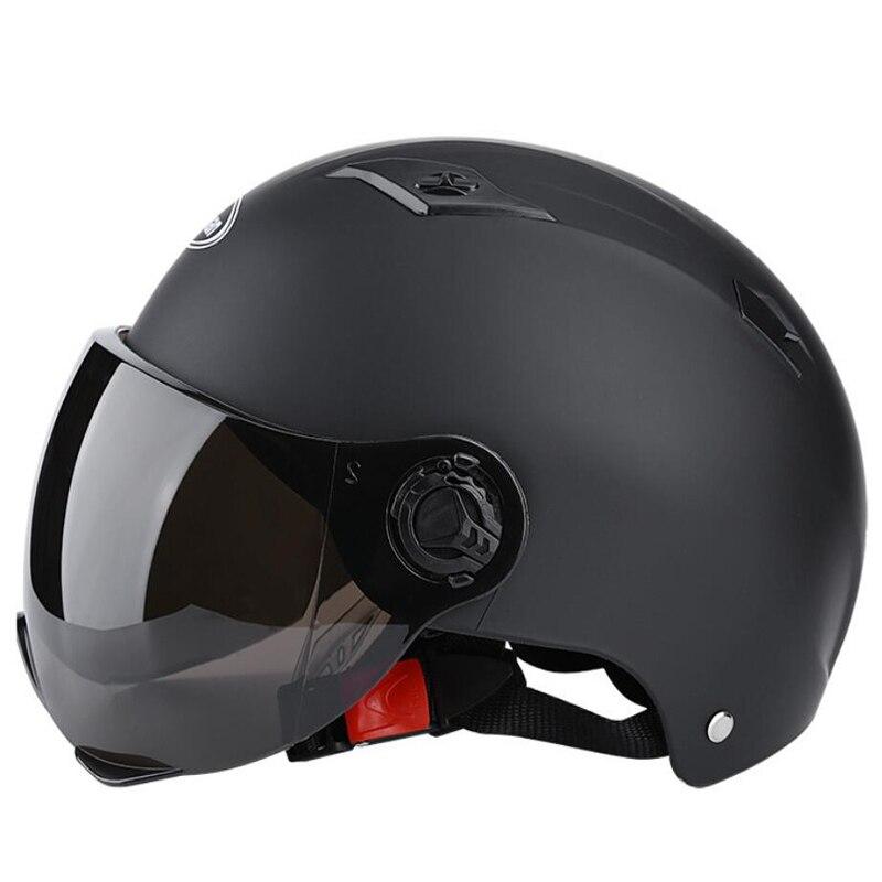 Шлем для электровелосипеда для верховой езды унисекс дышащий солнцезащитный Летний шлем мотоциклетный скутер открытый полушлем