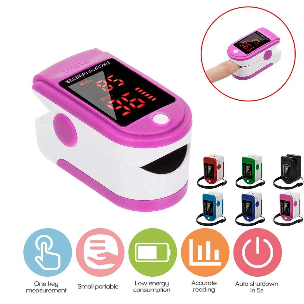 Fingertip oxímetro detecção de pulso dedo teste de freqüência cardíaca testador de pulso tft tela tft