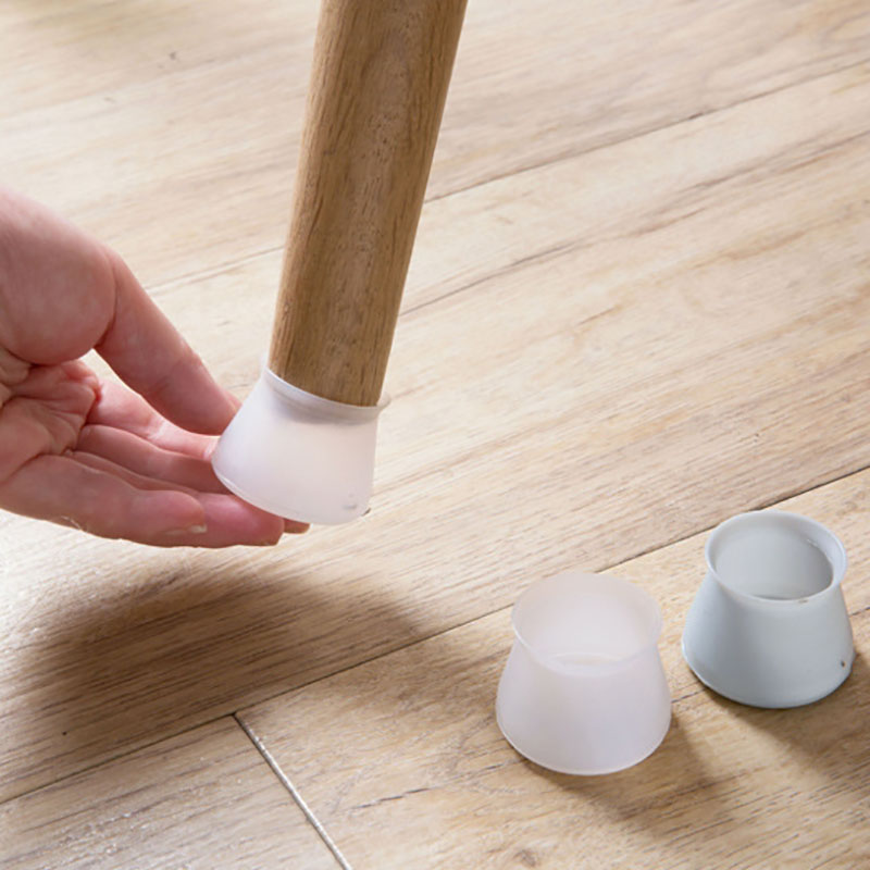 4pcs Furniture Silicone Protection Cover Universal Table Chair Foot Protector Chair Legs Mat Mute Silicone Chair Legs Caps Set