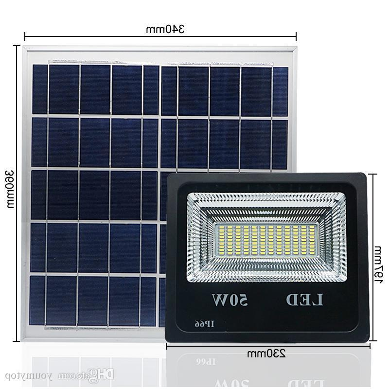 5PCS 50W Solar Flood Light Double Color LED Solar LED Flood Light Outdoor Light For Garden Yard Wall Lamp Floodlight