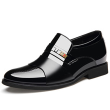 2019 Man Oxfords Slip On Business Wedding Patent Leather Oxford Shoes For Men Dress Shoes Pointed Toe Men Formal Shoes 38-48 formal shoes new british men s slip on split leather pointed toe men dress shoes business wedding oxfords 36 45 for male 1002
