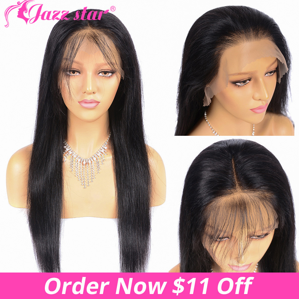 Brazilian Wig Straight Lace Front Wig 13*6& 13*4 Lace Front Human Hair Wigs Pre-Plucked & Baby Hair Jazz Star Lace Wigs Non Remy