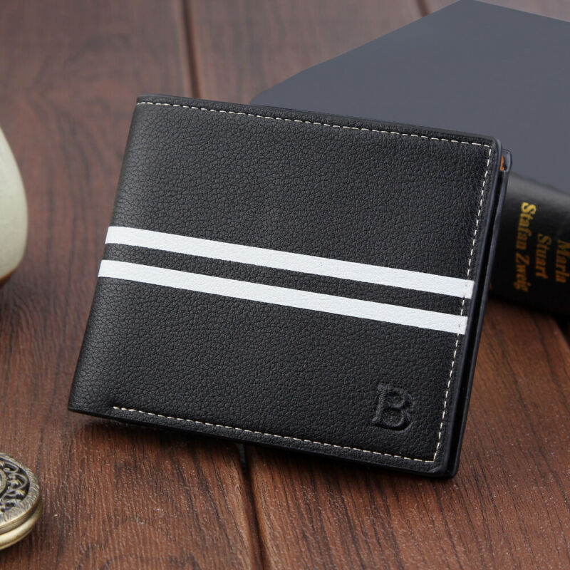 Mens Luxury Leather Soft Wallet Credit Card Holder Purse Black Brown With Zip Credit Card Holder Billfold Purse Clutch