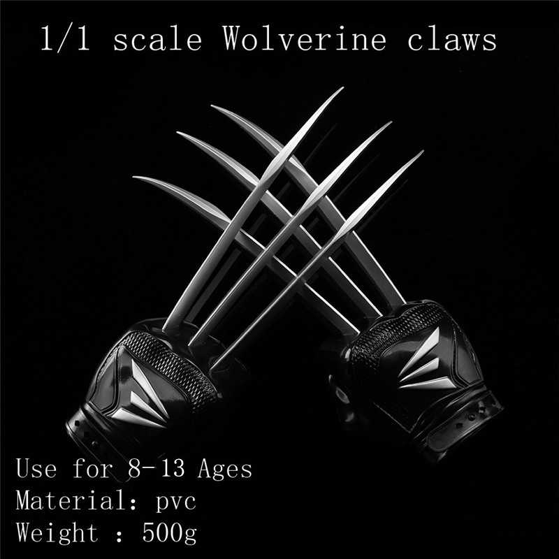 Pair of X-Men Wolverine Logan Claw Paw Cosplay Prop Super Hero Weapon Toy Gift