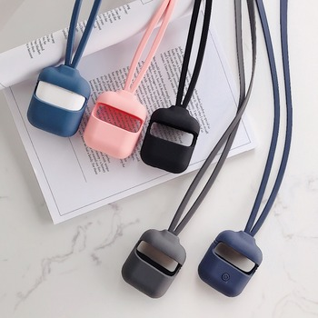 For AirPods 2/1 i9s i11 i12 Tws Case Newest run sport Anti-lost rope headphone Cover For Air pods Pro AirPods 2 i30 i8x Case image