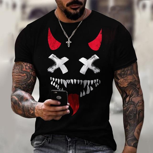 3d Printed t-shirt fashion men's street casual sports shirt male O-neck 3