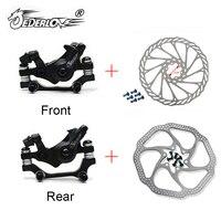 JEDERLO-rotor de freno de disco mecánico de aleación para bicicleta de montaña, pinzas de 160 y 180 MM, juego de rotores delanteros y traseros