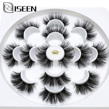 ISEEN 7 pairs natural false eyelashes fake lashes long makeup 3d mink lashes eyelash extension mink eyelashes for beauty