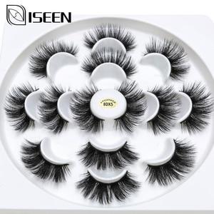 Image 1 - ISEEN 7 pairs natural false eyelashes fake lashes long makeup 3d mink lashes eyelash extension mink eyelashes for beauty