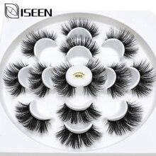 Isee 7 pairs الطبيعية الرموش الصناعية رموش اصطناعية طويلة ماكياج ثلاثية الأبعاد المنك جلدة ملحق رمش العين الرموش للجمال