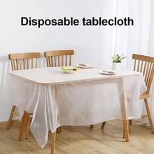 1 Roll Household Tablecloths PE Disposable Tablecloth Film Thicken Dining Table Cover Cloth Tableware restaurant supplies