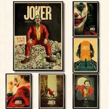 ВИНТАЖНЫЙ ПЛАКАТ фильм Джокер ретро плакат крафт-бумага печатные настенные плакаты для домашнего декора бара комнаты