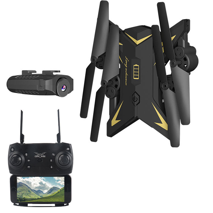 Cross Border Folding Unmanned Aerial Vehicle Set High Remote-control Four-axis Aircraft WiFi High-definition Real-Time Aerial Re