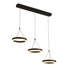 Modern remote control acrylic Dimmable Pendant Lights with three heads ring for living room Kitchen indoor led lighting decor(China)