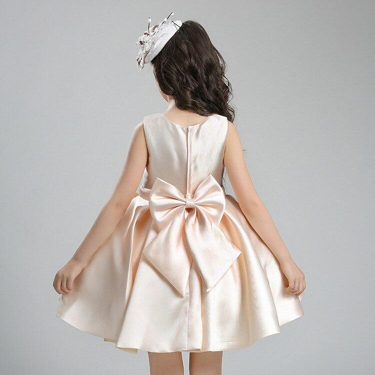 Europe And America GIRL'S Vest Princess Wedding Dress Formal Dress Summer Flowers Child Performance Tutu Children Birthday Skirt
