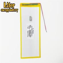 Il tablet batteria 3080160 batteria ai polimeri di 5000 mah 3.7 V MP4 tablet mobile di potere della batteria