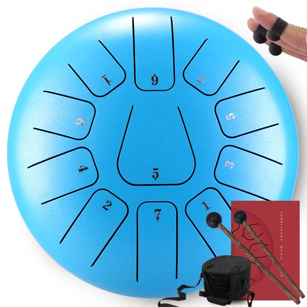 12 Inch Tongue Drum Mini 11-Tone Steel Tongue Drum C Key Hand Pan Drum With Drum Mallets Carry Bag Percussion Instrument Pakistan