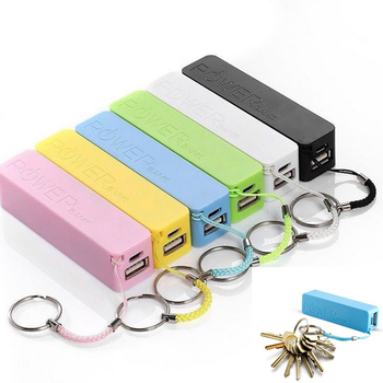 DIY USB External Power Bank Case Portable 2600mAh Pack Box 18650 Battery Charger No Battery Powerbank with Key Chain image