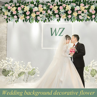 Wedding arch Artificial fake flowers row decorative backdrop flower christmas decorations for home party decoration accessories