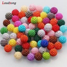 10mm Mixed Farbe Bayberry Acryl Perlen Runde Imitation Perle Perlen Für Schmuck handgemachte DIY Armband Halskette