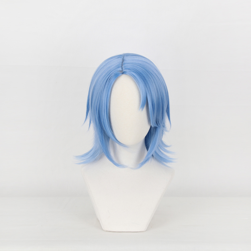 Kingdom Hearts III Riku Short Iron Grey Cosplay Wig Men Boys/' Party Wigs
