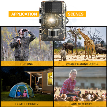 Trail Camera 12MP 1080P Wildlife Game Hunting Trail Camera Motion Activated Security Camera IP66 Night Vision Scouting Camera 4