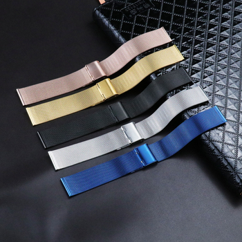 Double Buckle 12mm 14mm 16mm 18mm 20mm 22mm 24mm Stainless Steel Milanese Loop Watch Band Replacement Meshed Strap for DW