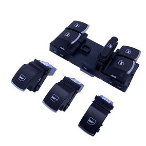 1Set Chrome Electric Power Master Window Switch For JJetta Golf MK5 MK6 GTIRabbit Passat B6 Tiguan 5ND 959 857 5ND 959 855