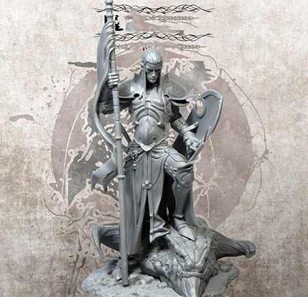 1/24 <font><b>75mm</b></font> ancient warrior stand with shield <font><b>Resin</b></font> figure Model <font><b>kits</b></font> Miniature gk Unassembly Unpainted image