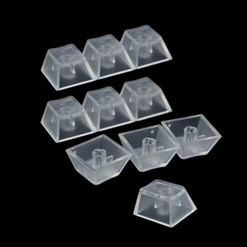 10Pcs Transparent ABS Keycaps Mechanical keyboard Keycaps Matte Backlit Keycaps for Cherry Gateron Switch Mechanical Keyboard pro wired rgb mechanical keyboard bluetooth wireless cherry switch gaming keyboard double shot backlit keycaps for gamer